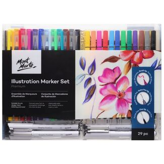 Mont Marte Premium Marker Set - Illustration Marker Set 29pc