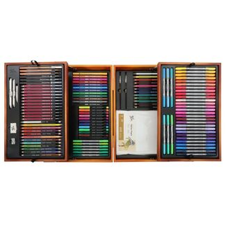 Mont Marte Signature Mixed Media Drawing Set In Wooden Case 152pc