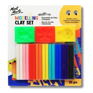 Mont Marte Kids - Modelling Clay Set w/Moulds 21pc