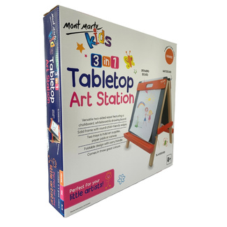 Mont Marte Kids - Tabletop Art Station Easel - Orange