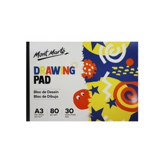 Mont Marte Kids - Drawing Pad White Paper A3 80gsm 30 Sheet