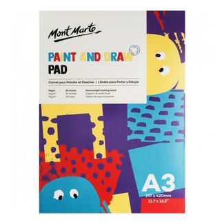 Mont Marte Kids - Paint & Draw Pad A3 30 Sheets