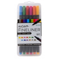 Mont Marte Fineliner Marker Pen Set - Soft Grip 12pc