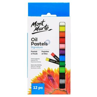 Mont Marte Oil Pastels 12pc