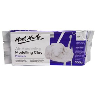 Mont Marte Air Hardening Modelling Clay - White 500gm