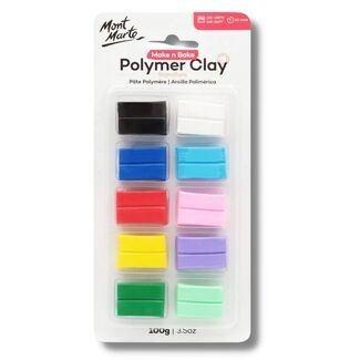 Mont Marte Make n Bake Polymer Clay 10pc