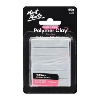 Mont Marte Make N Bake Polymer Clay 60g - Light Grey