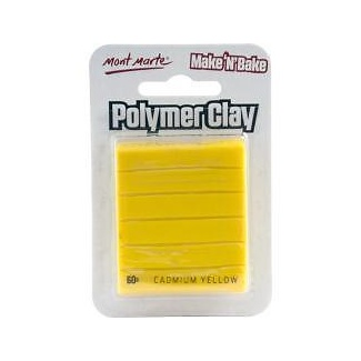 Mont Marte Make N Bake Polymer Clay 60g - Cadmium Yellow