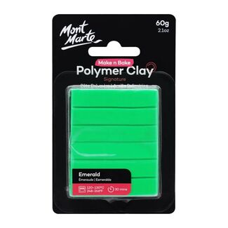 Mont Marte Make N Bake Polymer Clay 60g - Emerald