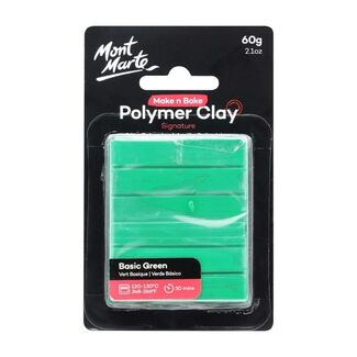Mont Marte Make N Bake Polymer Clay 60g - Basic Green