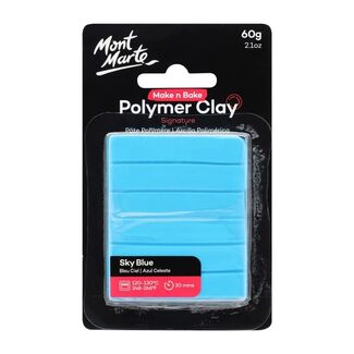 Mont Marte Make N Bake Polymer Clay 60g - Sky Blue