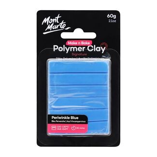 Mont Marte Make N Bake Polymer Clay 60g - Periwinkle Blue