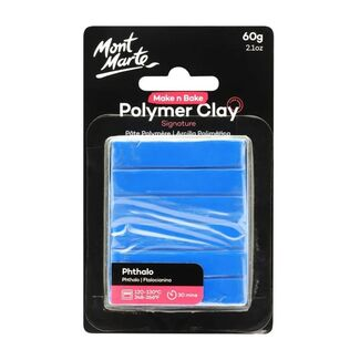Mont Marte Make N Bake Polymer Clay 60g - Phthalo Blue
