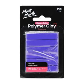 Mont Marte Make N Bake Polymer Clay 60g - Purple