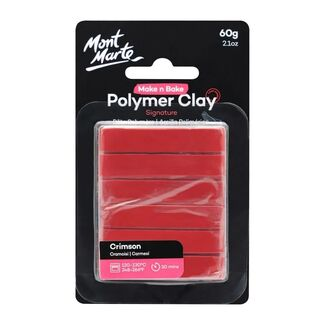 Mont Marte Make N Bake Polymer Clay 60g - Crimson