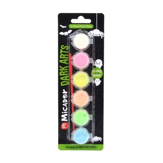 Micador Glow Acrylic Paint Pots - 4.5ml Pack 6