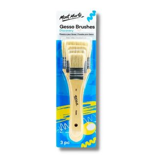Mont Marte Paint Brush Set - Gesso Brush 3pc