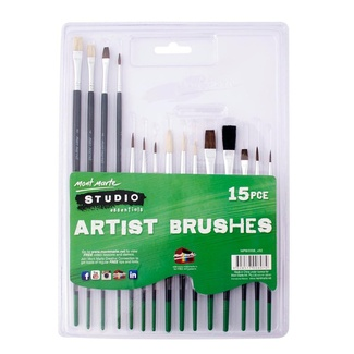 Mont Marte Studio Essentials Paint Brush Set - 15pc