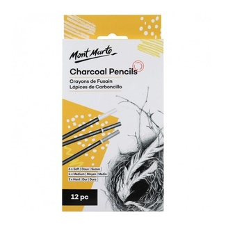 Mont Marte Charcoal Pencils 12pc