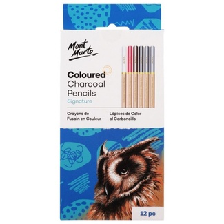 Mont Marte Charcoal Pencils - Coloured 12pc