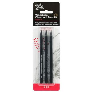 Mont Marte Charcoal - Woodless Charcoal Pencils 3pc
