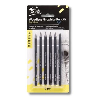 Mont Marte Graphite Pencils - Woodless 6pc