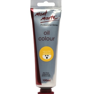 Mont Marte Oil Paint 100ml Tube - Medium Yellow