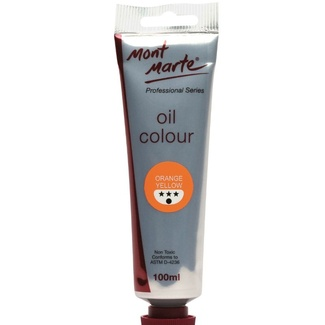 Mont Marte Oil Paint 100ml Tube - Orange Yellow