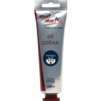 Mont Marte Oil Paint 100ml - Phthalo Blue
