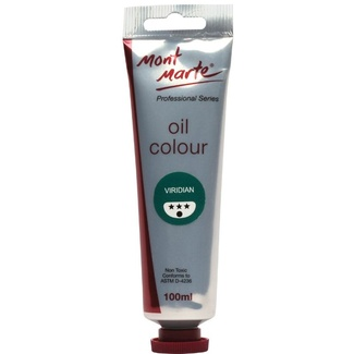 Mont Marte Oil Paint 100ml Tube - Viridian