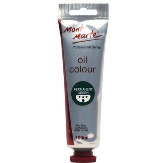 Mont Marte Oil Paint 100ml Tube - Permanent Green