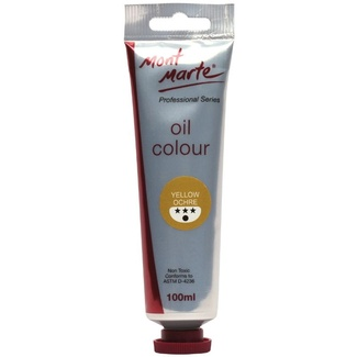 Mont Marte Oil Paint 100ml Tube - Yellow Ochre