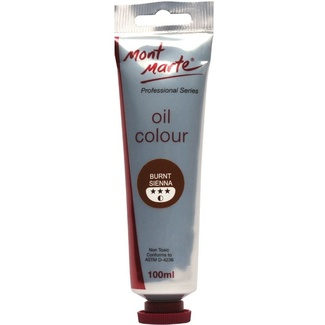 Mont Marte Oil Paint 100ml Tube - Burnt Sienna