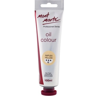 Mont Marte Oil Paint 100ml Tube - Naples Yellow