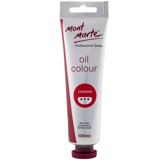 Mont Marte Oil Paint 100ml Tube - Carmine