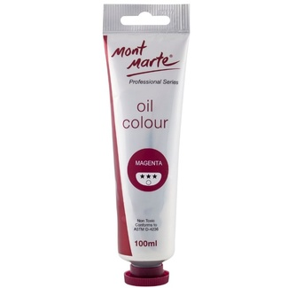 *Mont Marte Oil Paint 100ml Tube - Magenta