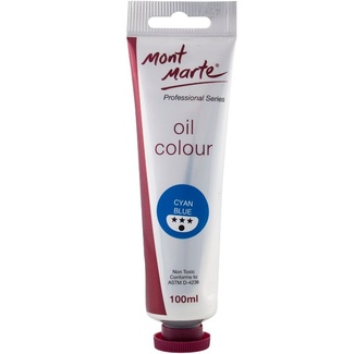 *Mont Marte Oil Paint 100ml Tube - Cyan Blue