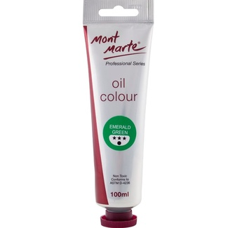 Mont Marte Oil Paint 100ml Tube - Emerald Green
