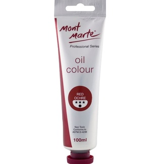 Mont Marte Oil Paint 100ml Tube - Red Ochre