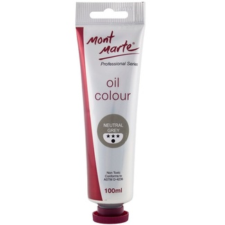 Mont Marte Oil Paint 100ml Tube - Neutral Grey