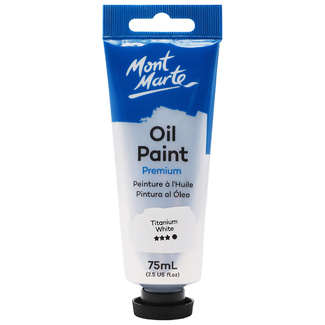 Mont Marte Oil Paint 75ml Tube - Titanium White