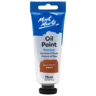 Mont Marte Oil Paint 75ml Tube - Burnt Sienna
