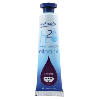 Mont Marte H2O Water Mixable Oil Paint 37ml - Purple
