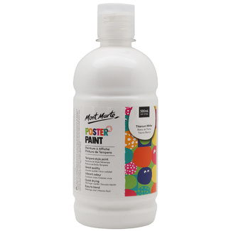 Mont Marte Kids - Poster Paint 500ml - White