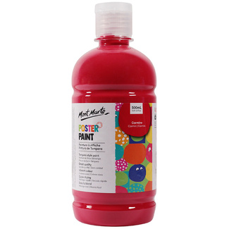 Mont Marte Kids - Poster Paint 500ml - Red