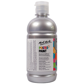 Mont Marte Kids - Poster Paint 500ml - Silver