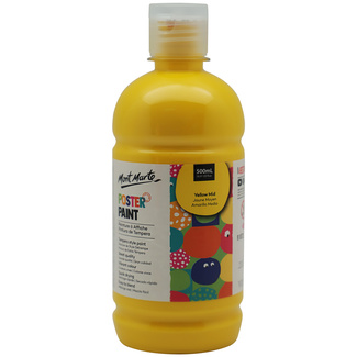 Mont Marte Kids - Poster Paint 500ml - Yellow Mid