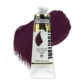 Matisse Structure Acrylic 75ml S6 - Australian Red Violet