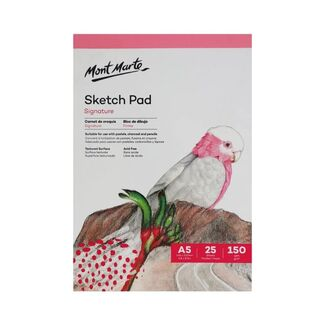 Mont Marte Sketch Pad White Paper A5 150gsm 25 Sheet