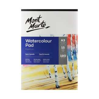 Mont Marte Watercolour Pad German Paper A3 180gsm 15 Sheet